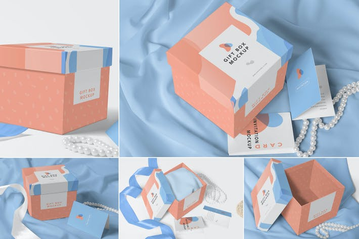 Thumbnail for Luxury Gift Box Mockups
