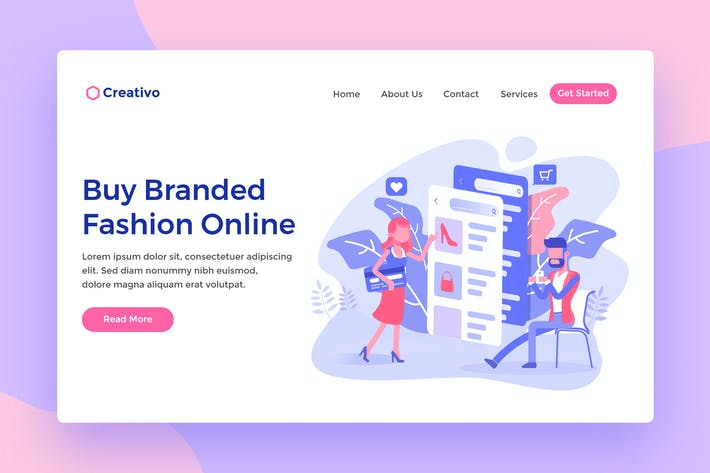 Thumbnail for Buy Branded Fashion Ecommerce Web Landing Page
