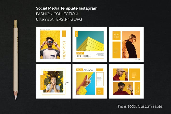 Thumbnail for Instagram Square Templates Fashion Collection