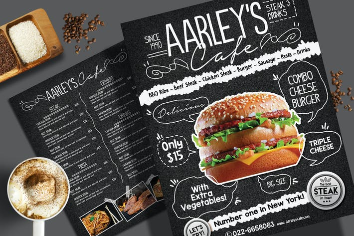 Thumbnail for Asphalt Food Menu Flyer Template