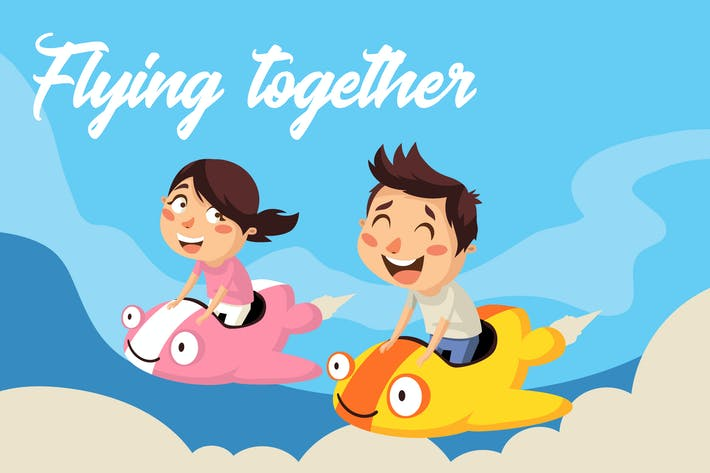 Thumbnail for Flying together - Illustration