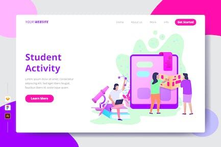 Schüleraktivität - Zielseite