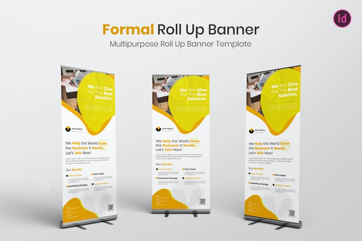 Thumbnail for Formal Banner Roll Up Banner