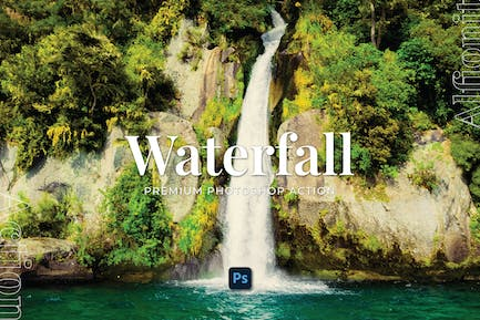Waterfall Photoshop Action
