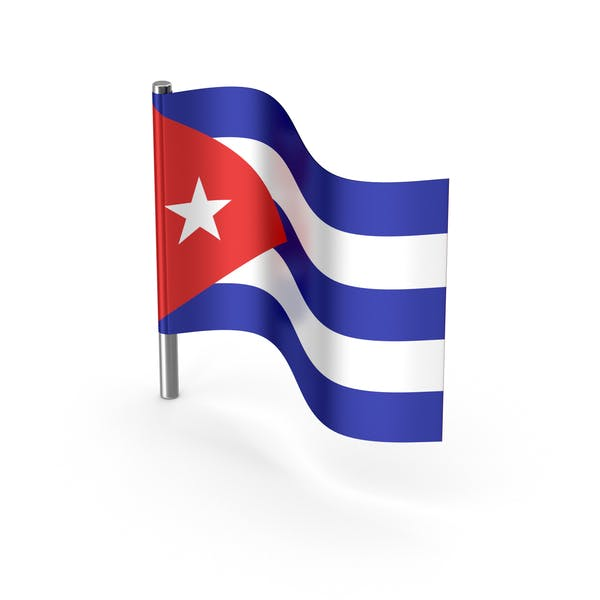 Cuba Cartoon Flag