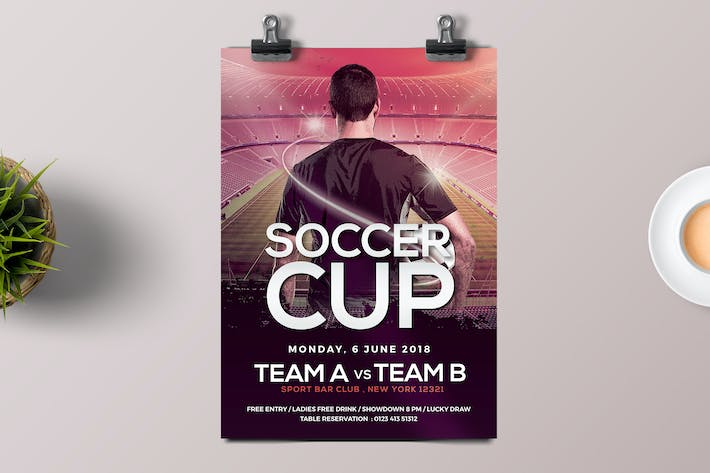 Cover Image For Soccer Cup Flyer