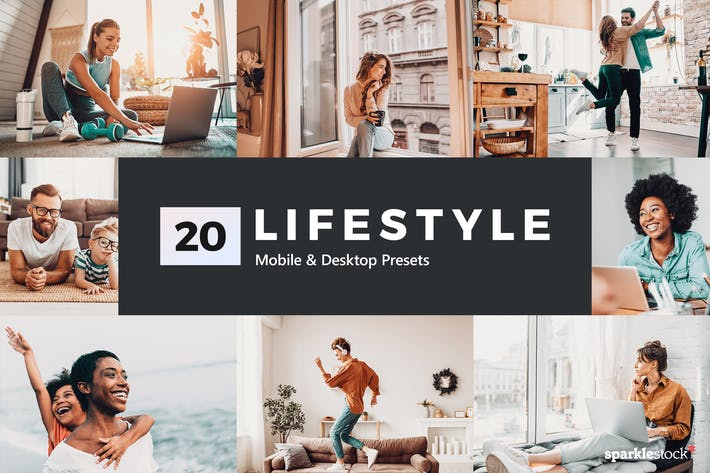 Thumbnail for 20 Lifestyle Lightroom Presets and LUTs
