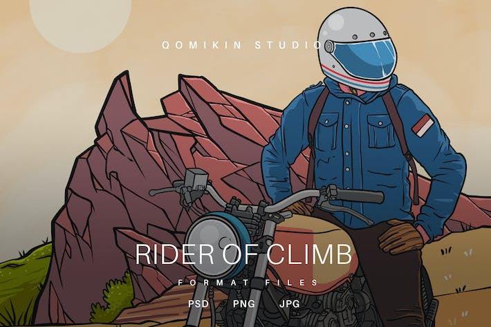 Thumbnail for Rider of Climb Illustration