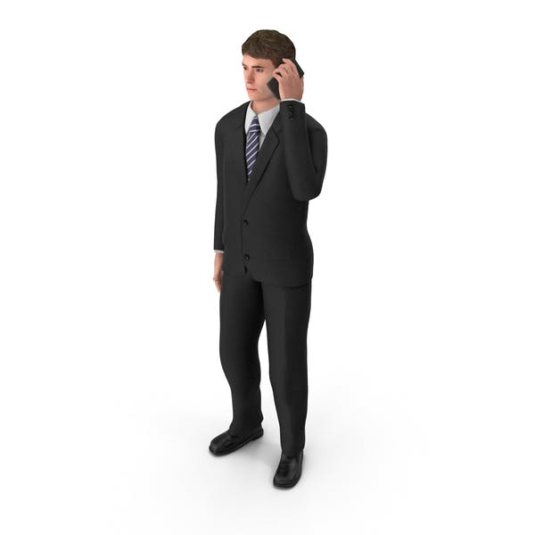 Businessman John Talking On The Phone