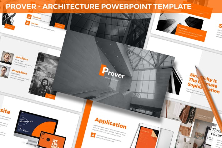 Thumbnail for Prover - Architecture Powerpoint Template