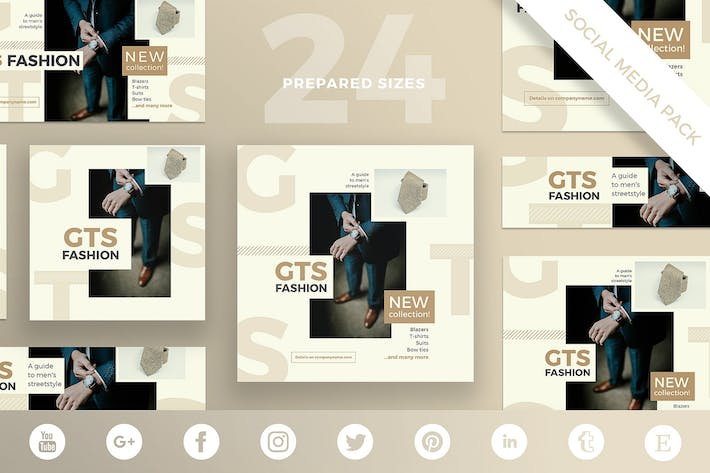 Fashion Clothes Social Media Pack Template