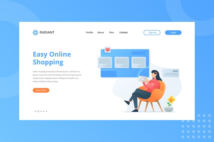 Thumbnail for Easy Online Shoping Landing Page