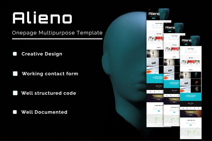 Thumbnail for Alieno - Onepage Multipurpose Template