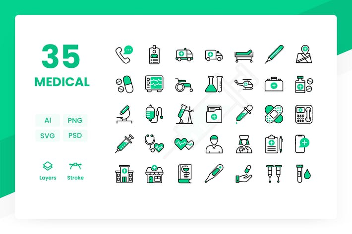 Thumbnail for Medical - Icons Pack