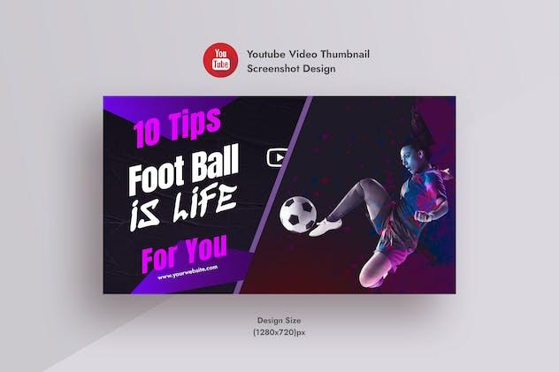 Football & Soccer YouTube Thumbnail Screenshot
