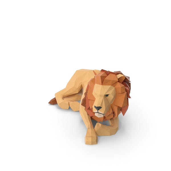 Low Poly Lion