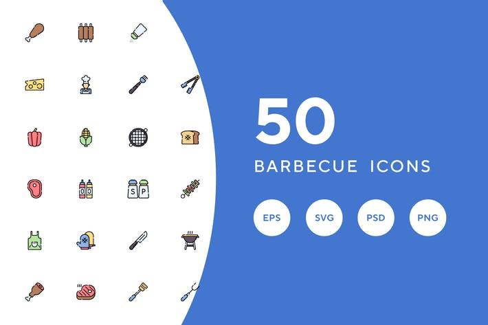 Thumbnail for 50 Barbecue Icons
