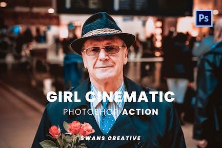 Girl Cinematic Photoshop Action
