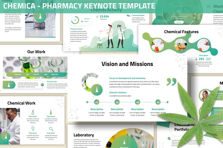 Thumbnail for Chemica  - Pharmacy Keynote Template