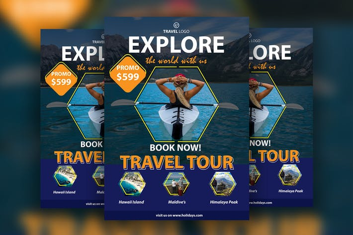 Thumbnail for Travel Flyer Template Vol. 02