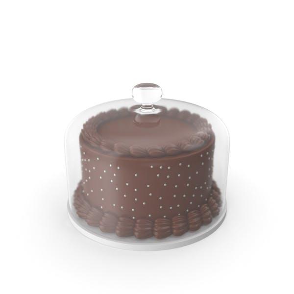 Шоколадный торт со стеклянной куполом