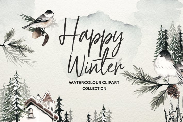 Cover Image For Winter Watercolor Collection