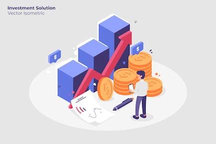 Investitionslösung - Vektor darstellung