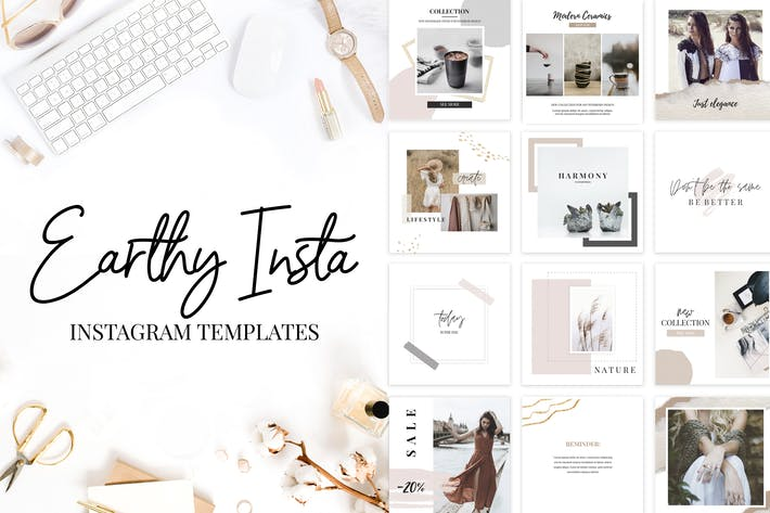 Thumbnail for Instagram Templates Earthy