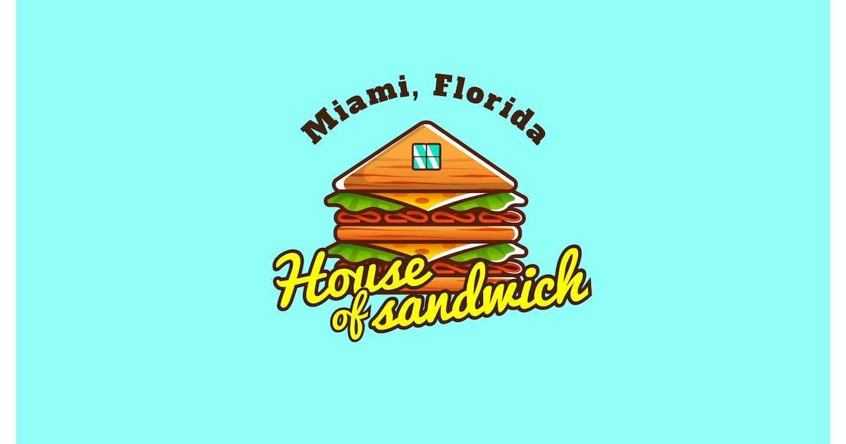 Download house of sandwich - Mascot & Esport Logo by aqrstudio