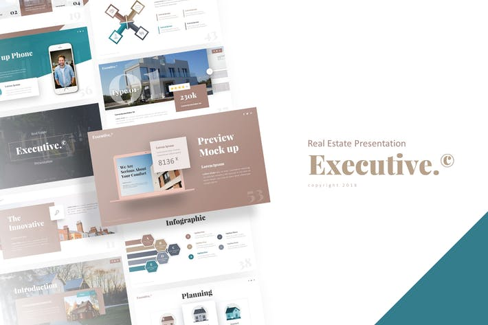 Thumbnail for Executive - Real Estate Presentation Template