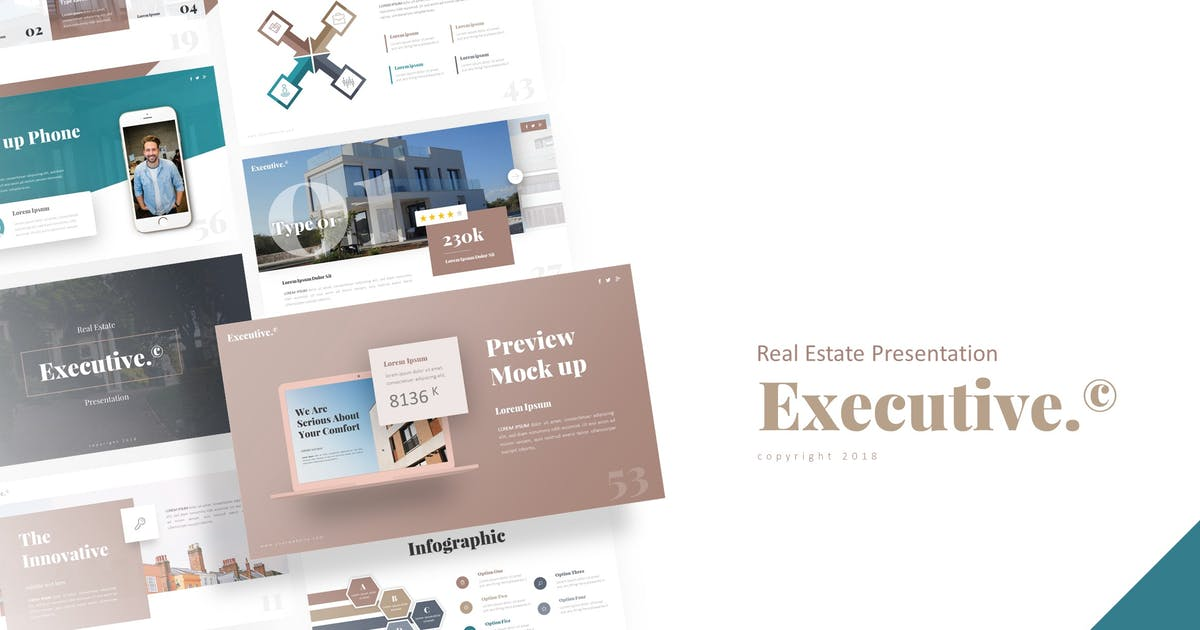 Download Executive - Real Estate Presentation Template by RRgraph