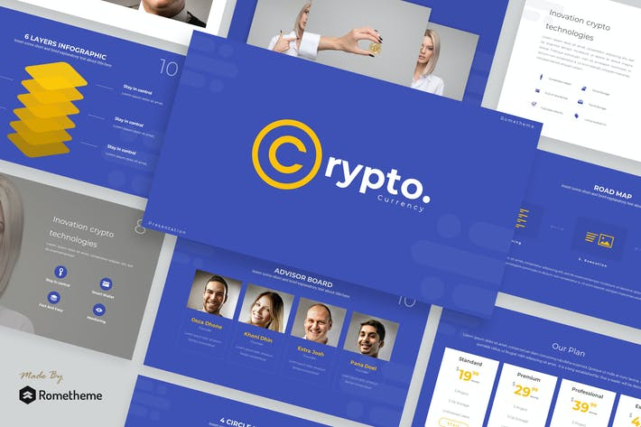 Thumbnail for Crypto - Keynote Template TS