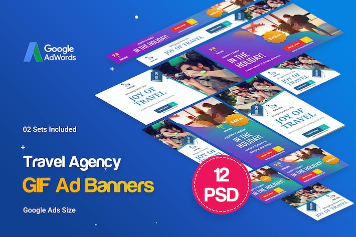 Thumbnail for Animated GIF Travel Agency Banners Ad
