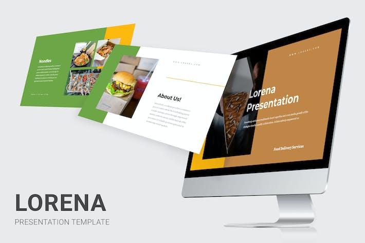Thumbnail for Lorena: Lebensmittellieferdienste Powerpoint