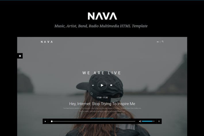 Thumbnail for Nava - Music, Artist, Band, Radio  HTML Template