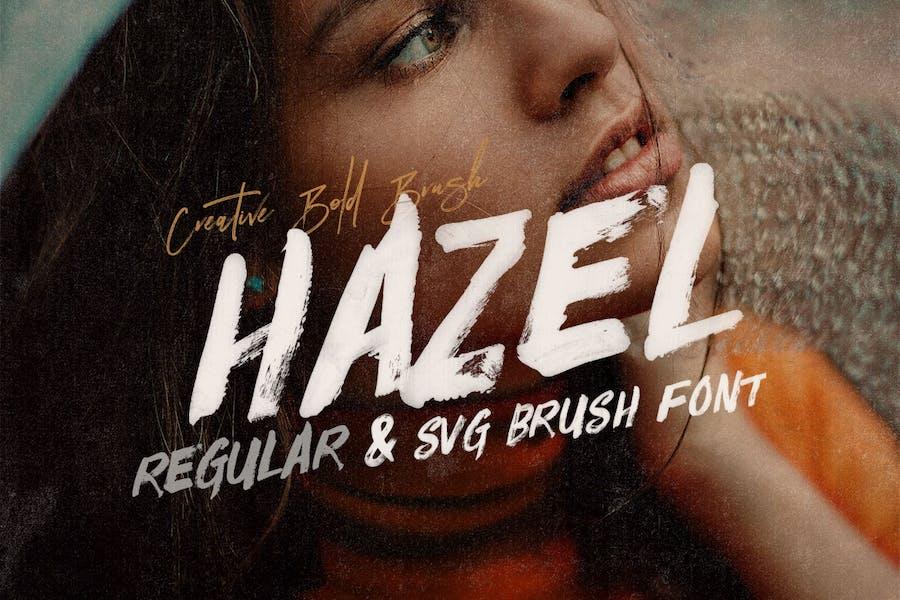 Hazel Brush & SVG Font