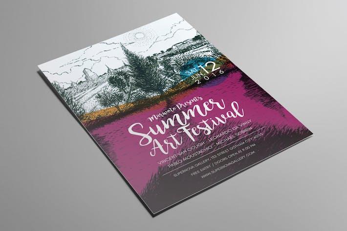 Thumbnail for Summer Art Festival Flyer