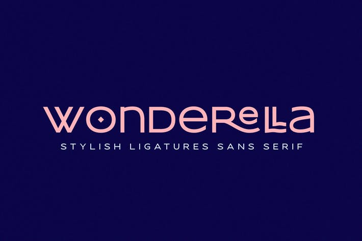 Thumbnail for Wonderella - Stylish Ligatures Sans