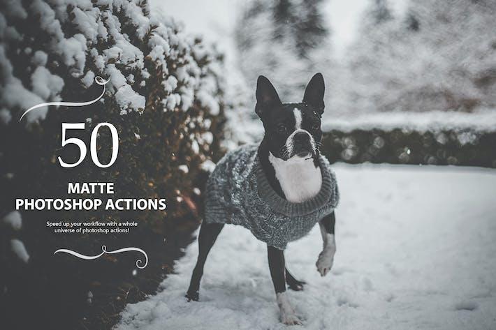 Thumbnail for 50 Matte Photoshop Actions