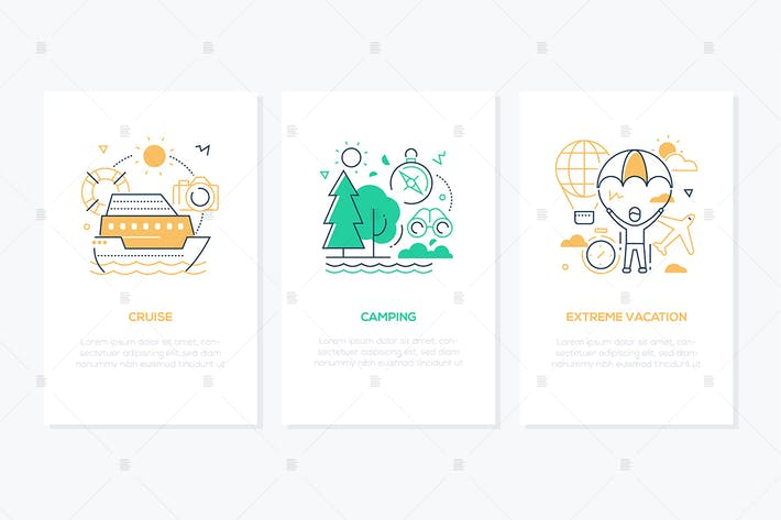 Thumbnail for Traveling and vacation concept - line banners