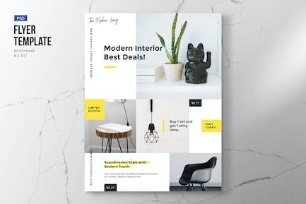 Moderner Möbel- und Interior-Flyer
