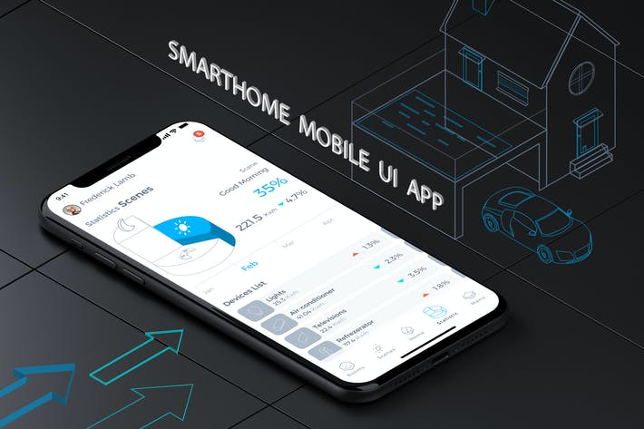 Thumbnail for Smart Home Mobile Ui 7 - TH