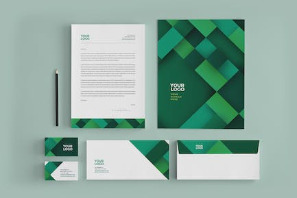 Professional Green Business Stationery