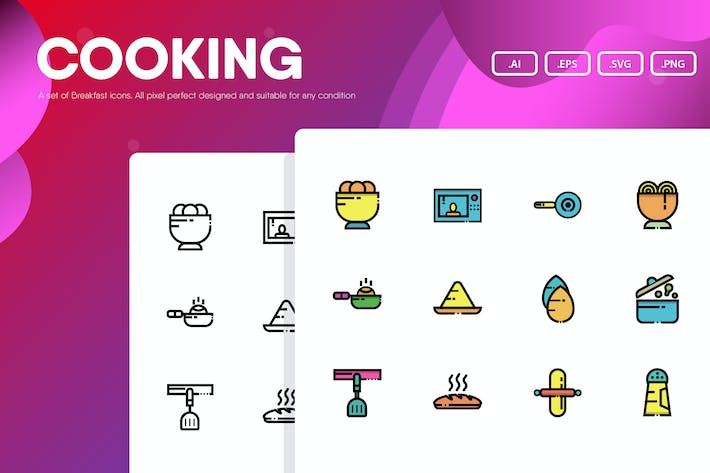 Thumbnail for Cooking Icon Pack