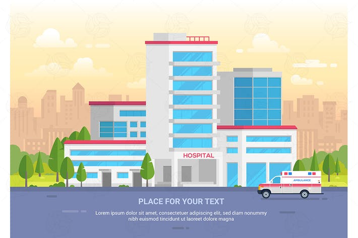 Thumbnail for City hospital - vector illustration