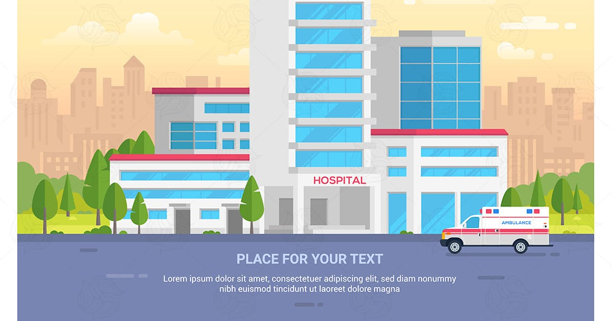 Download City hospital - vector illustration by BoykoPictures