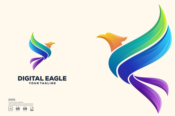 Thumbnail for eagle color logo design