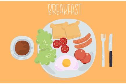 Frühstück Illustration-Hintergrund