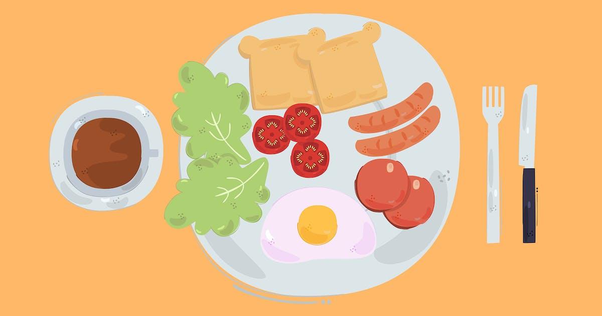 Download Breakfast Illustration Background by april_arts