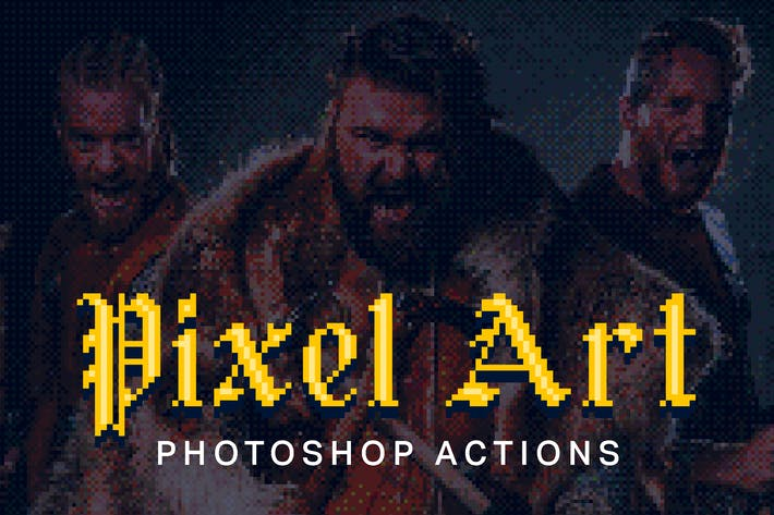 Thumbnail for 21 Pixel Art Photoshop Actions